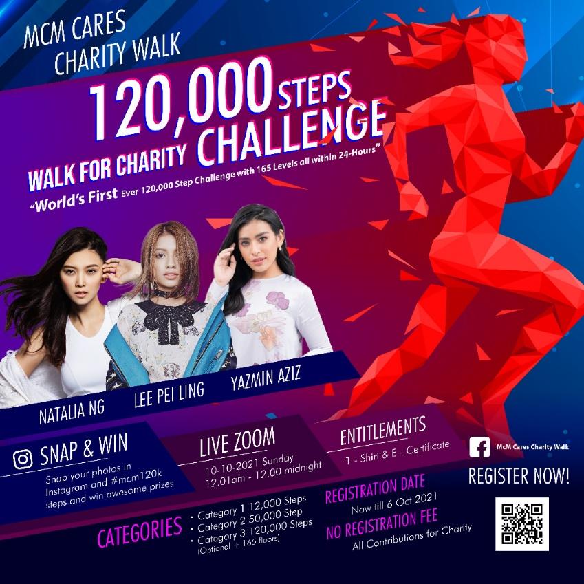 MCM Cares Charity Walk: 120k Steps Challenge
